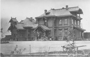 Виды города Гатчины – Балтийский вокзал, фотография 1896 года.