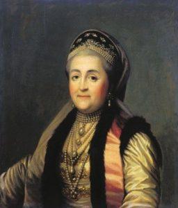 Худ. В. Эриксен. Портрет Екатерины II. 1772г.